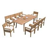 Idora 11 Piece Teak Dining Set
