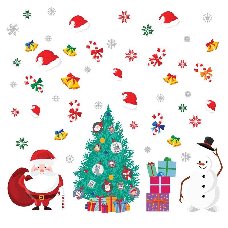 Christmas Tree Decal -Pine Tree Happy Holidays Holiday Wall Decal Christmas Wall Decal Christmas Decor Christmas Decoration- Santa
