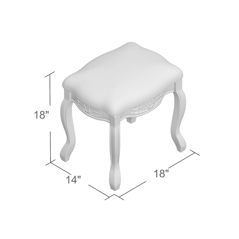 Swell Adelinna Hand Carved Antique White Vanity Stool Alphanode Cool Chair Designs And Ideas Alphanodeonline