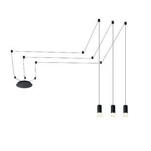 Quaoar 3-Light LED Geometric P..