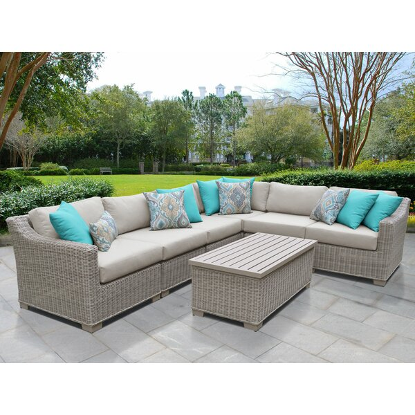 Rosecliff Heights Claire 7 Piece Sectional Seating Group With Cushions Wayfair