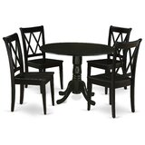 Porter 5 Piece Drop Leaf Solid Wood Breakfast Nook Dining Set by Charlton Home®