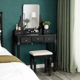 Black Vanity Tables You\'ll Love in 2020 | Wayfair