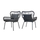 Mcclurg Patio Chair with Cushions (Set of 2)