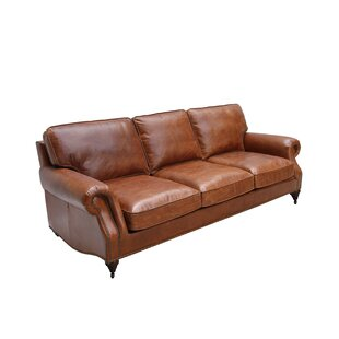 Polley Leather 4 Seater Sofa By Rosalind Wheeler
