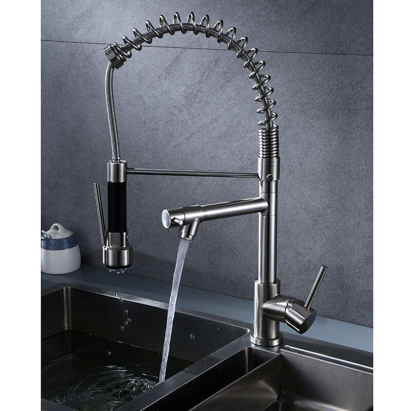 E Joy Pull Down Single Handle Kitchen Faucet Wayfair