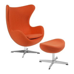 Andre Swivel Balloon Chair and Ottoman by Orren Ellis