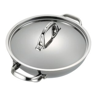 3 Qts. Tri-Ply Clad Stainless Steel Round Braiser with Lid