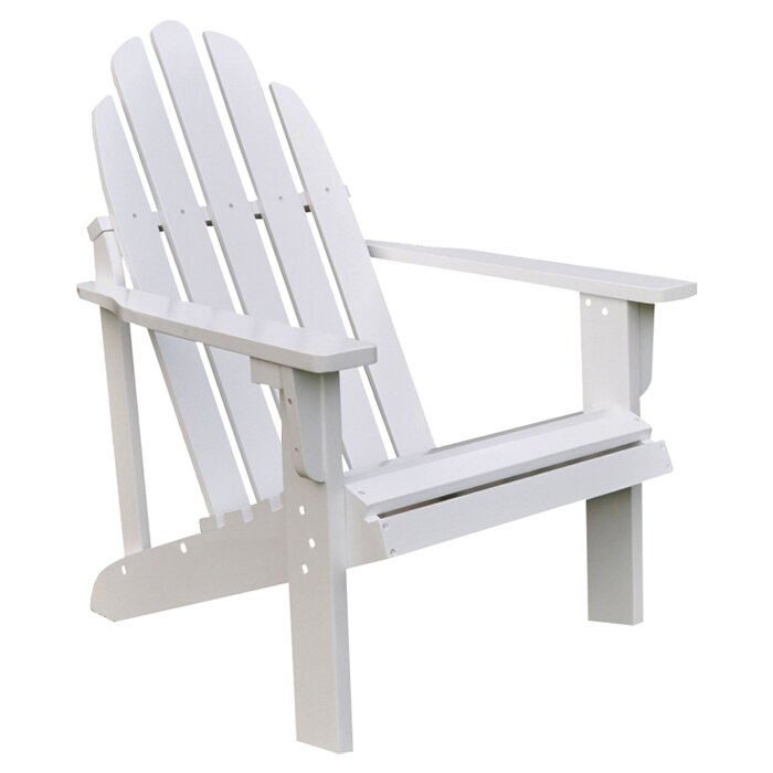Lovely Diredra Solid Wood Adirondack Chair