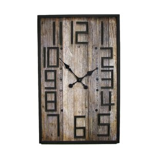 office large size floor clocks wayfair. Smokey Cabin Barnwood Wall Clock Office Large Size Floor Clocks Wayfair