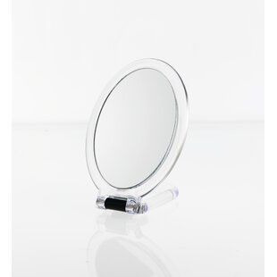 Acrylic Oval Folding Hand Hled Mirror By Danielle Creations