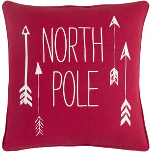 Holiday North Pole Modern Cotton Throw Pillow Cover