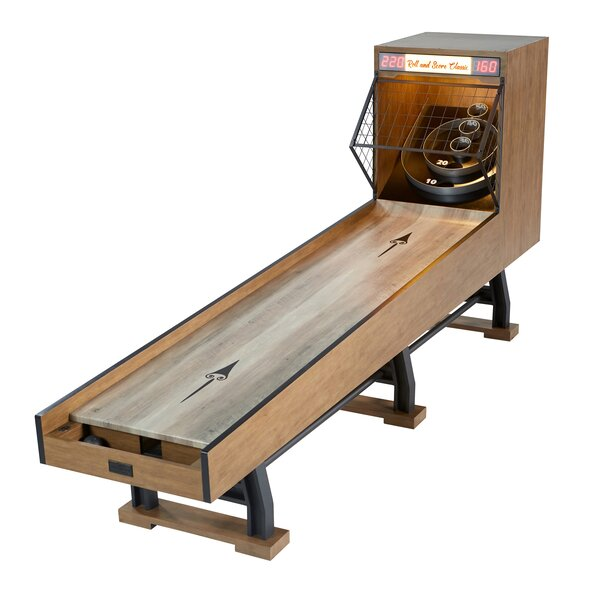 Barrington Billiards Coventry Collection 10 Ft Roll and Score Skeeball Game with Electronic Scorer