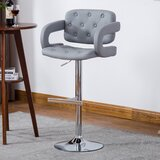 Glamis Adjustable Height Swivel Arm Bar Stool by Orren Ellis