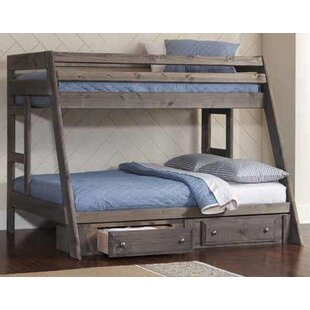 Setser Twin Over Full Bunk Bed with Stairway Chest and Trundle by Harriet Bee