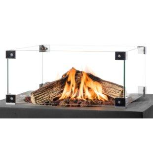 4 Panel Glass Fireplace Screen By Belfry Heating