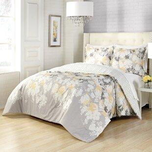 Andover Mills Coggins 3 Piece Reversible Comforter Set