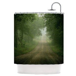 Foggy Road Single Shower Curtain