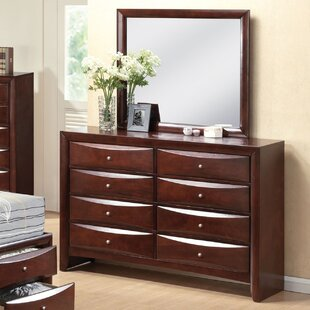 Schermerhorn 8 Drawer Double Dresser with Mirror