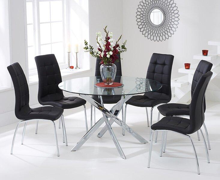 perspections essgruppe dawson mit 6 st hlen bewertungen. Black Bedroom Furniture Sets. Home Design Ideas