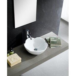 Fine Fixtures Modern Ceramic Circular Vessel Bathroom Sink