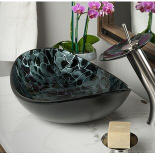Guide to buy Tartaruga Glass Oval Vessel Bathroom Sink By Novatto