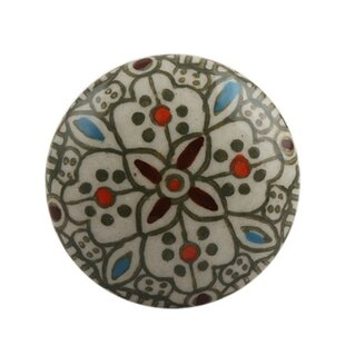 Floral Ceramic Drawer Novelty Knob