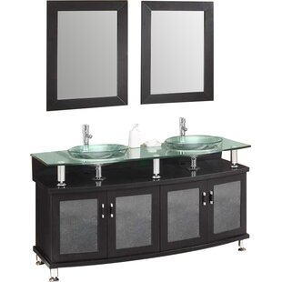 Classico Contento 59 Double Bathroom Vanity Set with Mirror By Fresca