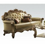 Gold Patina Loveseat With 3 Pillows by Simple Relax