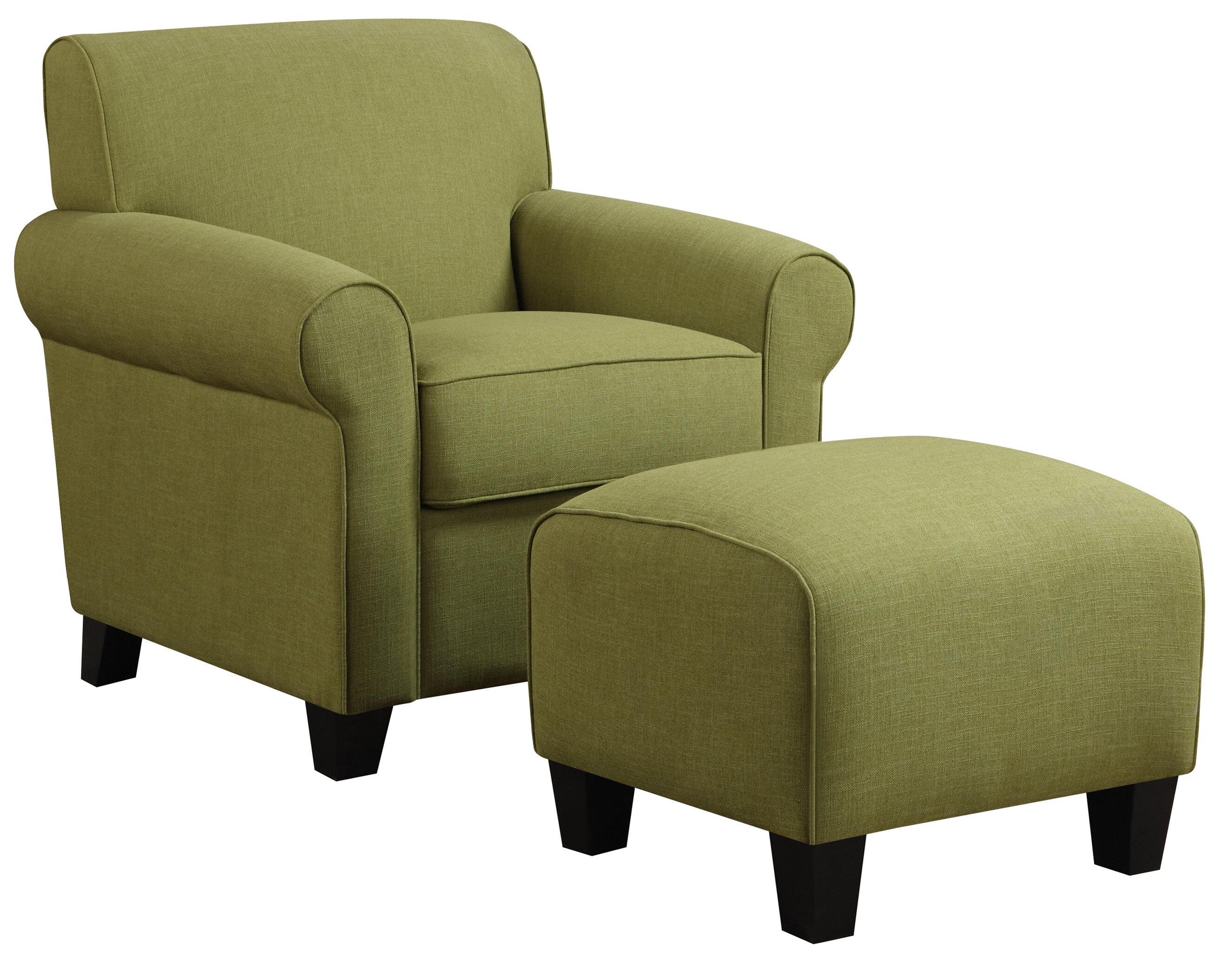 Alcott Hill Oldbury Armchair And Ottoman U0026 Reviews | Wayfair