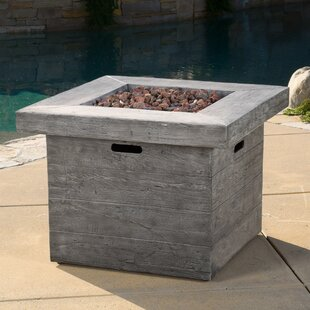 Freeport Park Tyne Polyresin Propane Fire Pit Table