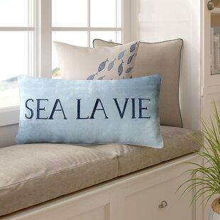 Arabelle Sea La Vie Coastal Cotton Lumbar Pillow