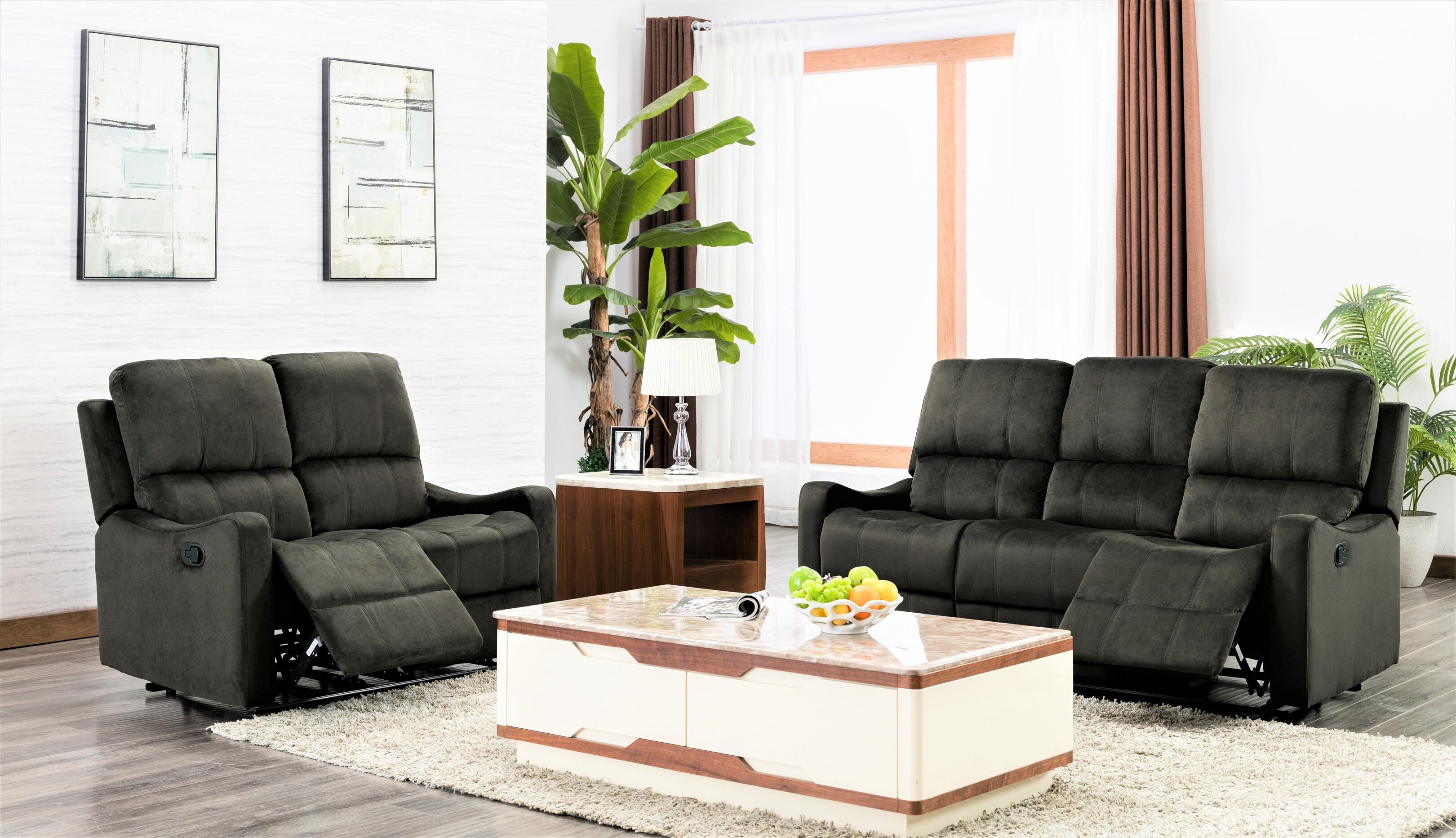 Red Barrel Studio Land 2 Piece Reclining Living Room Set   Wayfair