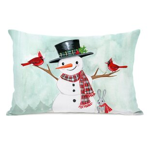 Eaglin Happy Snowman Lumbar Pillow