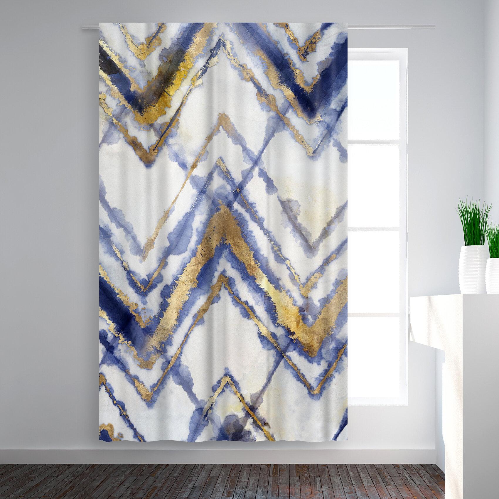 East Urban Home Pi Creative Art Tie Dye Iii Abstract Blackout Rod Pocket Single Curtain Panel Wayfair