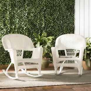 Burtch Wicker Rocking Chairs (Set of 2) by Three Posts