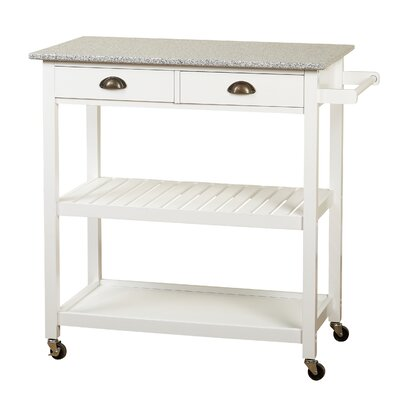Bronte Rolling Kitchen Cart Base Finish: White by Andover Mills