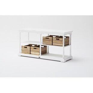 Ownby Kitchen Island with 4 Wood Crates