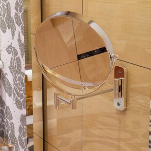 Symple Stuff Magnifying Wall Mount Makeup Mirror