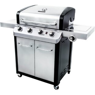 Signature 4-Burner Propane Gas Grill With Side Burner And Cabinet By Char-Broil
