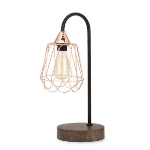 Coalpit Heath Classic Copper And Wood 19 Table Lamp