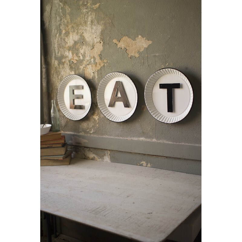 Williston Forge Tin Eat Sign Wall Décor