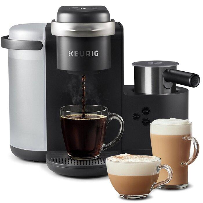 Compatible with Keurig K-Cups Mixpresso Coffee Single Serve Coffee Maker Dark Grey