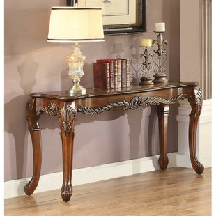Dortch Traditional Engraved Console Table