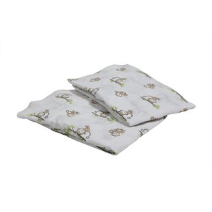 Order Sheelah Monkeys Fitted Crib Sheets (Set of 2) By Harriet Bee