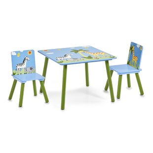 Safari Children's 3 Piece Table and Chair Set by Zeller