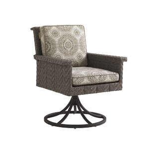 Olive Swivel Rocker Patio Chair with Cushion