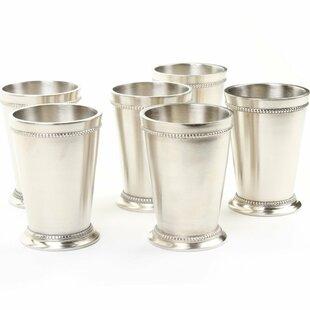 Charter Oak Mint Julep Teacup Set (Set of 6)