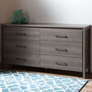 Gravity 6 Drawer Double Dresser by South Shore