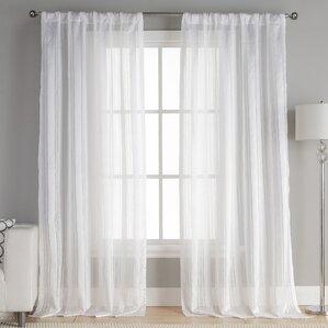mcbride striped semisheer curtain panels set of 2